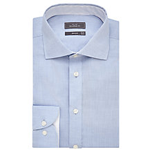 Buy John Lewis Luxury Cotton Cashmere Tailored Shirt, Blue Online at johnlewis.com
