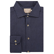 Buy JOHN LEWIS & Co. Brunswick Woven in Italy Flannel Shirt, Navy Online at johnlewis.com