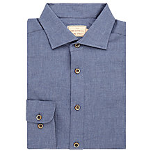 Buy JOHN LEWIS & Co. Abingdon Basket Weave Cotton Shirt, Blue Online at johnlewis.com