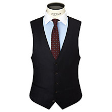 Buy John Lewis Milled Fine Stripe Super 80s Wool Tailored Waistcoat, Navy Online at johnlewis.com