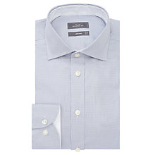 Buy John Lewis Luxury Houndstooth Shirt with Metal Collar Bones, Grey Online at johnlewis.com