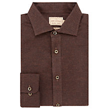 Buy JOHN LEWIS & Co. Brunswick Woven in Italy Birdseye Shirt, Rust Online at johnlewis.com