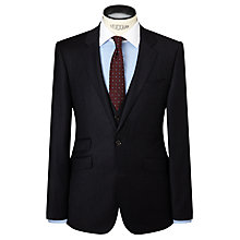 Buy John Lewis Milled Fine Stripe Super 80s Wool Tailored Suit Jacket, Navy Online at johnlewis.com