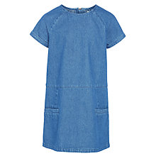 Buy John Lewis Girls' Denim Shift Dress, Blue Online at johnlewis.com
