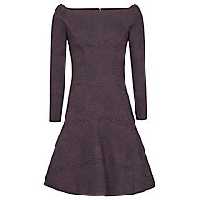 Buy Reiss Tinsel Fit and Flare Dress, Berry Online at johnlewis.com