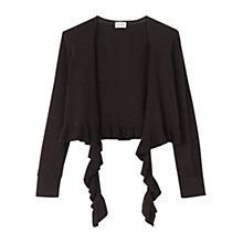 Buy East Black Frill Trim Shrug, Black Online at johnlewis.com