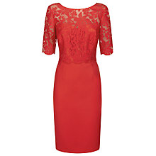 Buy Kaliko Lace Bodice Dress, Bright Red Online at johnlewis.com