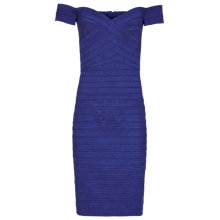 Buy Reiss Forley Bodycon Off The Shoulder Dress, Blue Abyss Online at johnlewis.com