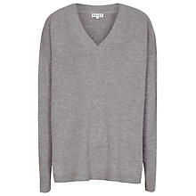 Buy Reiss Rachelle Merino Wool Jumper, Grey Marl Online at johnlewis.com