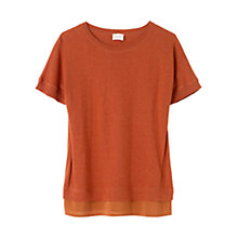 Buy East Silk Trim Short Sleeve Jumper Online at johnlewis.com