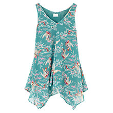 Buy East Song Bird Tunic Top, Kingfisher Online at johnlewis.com