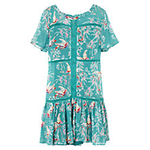 Buy East Lace Effect Songbird Dress, Kingfisher Online at johnlewis.com