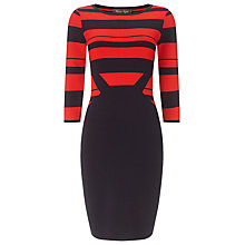 Buy Phase Eight Shavon Knit Stripe Dress, Navy/Red Online at johnlewis.com