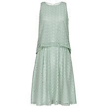 Buy Reiss Remi Tiered Lace Dress, Seapine / Oyster Online at johnlewis.com