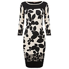 Buy Phase Eight Laila Leaf Block Dress, Black/White Online at johnlewis.com