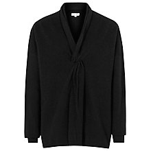Buy Reiss Wool Lemaire Knot Front Jumper, Black Online at johnlewis.com