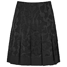 Buy Reiss Hara Pleated Devore Skirt, Black Online at johnlewis.com