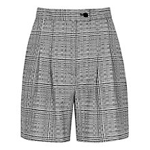 Buy Reiss Storm Check Shorts, Black/White Online at johnlewis.com