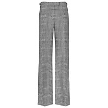 Buy Reiss Check Trousers, Black/White Online at johnlewis.com