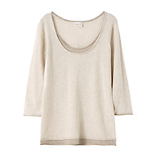 Buy East Double Layer Gauze Top, Calico Online at johnlewis.com