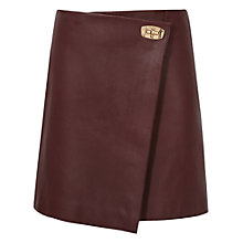 Buy Reiss Rocket Leather Hardware Skirt, Ox Blood Online at johnlewis.com