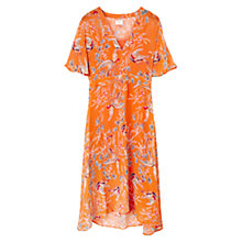 Buy East Songbird Print Dress, Ginger Online at johnlewis.com