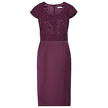Buy Kaliko Satin Dress, Dark Purple Online at johnlewis.com