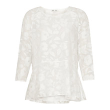 Buy Reiss Relaxed Hem Top, Off White Online at johnlewis.com