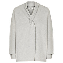 Buy Reiss Lemaire Lambswool Knot Front Jumper, Grey Marl Online at johnlewis.com