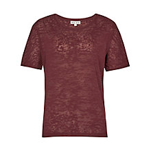 Buy Reiss Adi Burnout Jersey Top Online at johnlewis.com