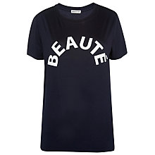 Buy Whistles Beaute Logo T-Shirt, Navy Online at johnlewis.com