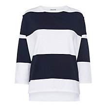 Buy Whistles Striped Oversized Boxy Top, Multi Online at johnlewis.com