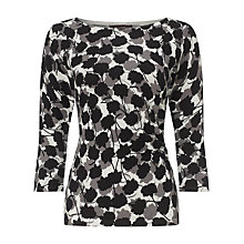 Buy Phase Eight Leilani Print Knit Top, Black / Grey Online at johnlewis.com