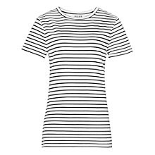Buy Reiss Striped Toulouse Jersey T-Shirt, Black and White Online at johnlewis.com
