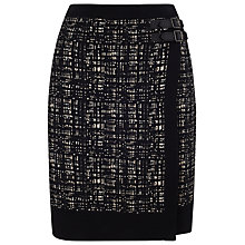 Buy Phase Eight Joselyn Wrap Knit Skirt, Black Online at johnlewis.com