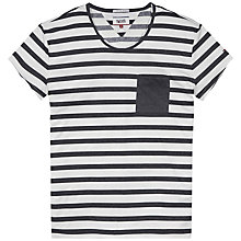 Buy Hilfiger Denim Aaron Striped Knit Top, Egret/Black Online at johnlewis.com