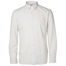 Buy Selected Homme Print Shirt, White Online at johnlewis.com