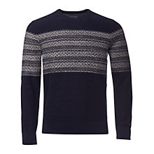 Buy Tommy Hilfiger Elim Crew Neck Jumper, Navy/White Online at johnlewis.com