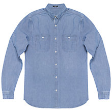 Buy Denham Edge Denim Shirt, Indigo Online at johnlewis.com