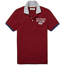 Buy Hilfiger Denim Pilot Badge Polo Shirt, Sun Dried Tomato Online at johnlewis.com