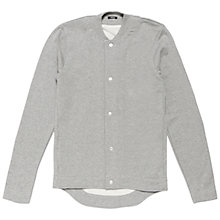Buy Denham Baseman Button Through Jersey Top, Grey Online at johnlewis.com