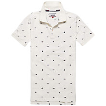 Buy Hilfiger Denim Anno Geometric Print Polo Shirt, Egret Online at johnlewis.com