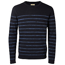 Buy Selected Homme Janis Stripe Crew Neck Jumper, Navy Online at johnlewis.com