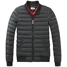 Buy Hilfiger Denim Eric Bomber Jacket, Tommy Black Online at johnlewis.com