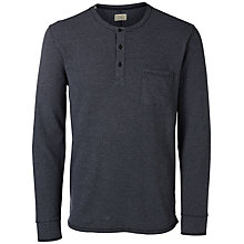 Buy Selected Homme Split Neck Tee, Dark Sapphire Online at johnlewis.com