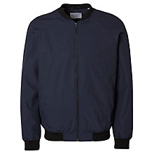 Buy Selected Homme Blatch Bomber Jacket, Dark Sapphire Online at johnlewis.com