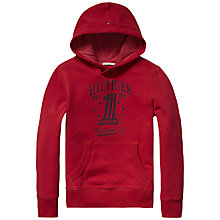Buy Tommy Hilfiger Boys' Number One Hoodie, Red Online at johnlewis.com