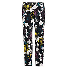 Buy French Connection Botanical Trousers, Black Multi Online at johnlewis.com