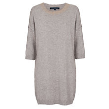 Buy French Connection Ruby Knits Jumper Dress, Oatmeal/Pale Gold Online at johnlewis.com