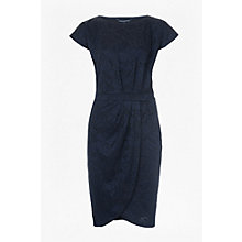 Buy French Connection Shatter Jacquard Dress, Utility Blue Online at johnlewis.com